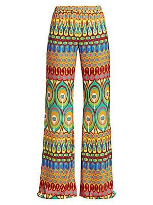 Alexis Malone Multicolor Wide Leg Pants Fashion Clothes Women
