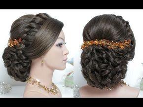Bridal Hairstyle For Long Hair Tutorial Wedding Updo Step By Step Youtube Long Hair Tutorial Hair Tutorial Stylish Hair