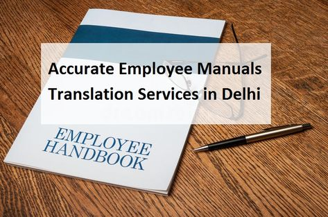 Employee Handbook / Manuals Translation Services in Delhi India UAE