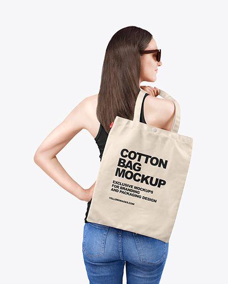 Download Woman W Cotton Bag Mockup In Apparel Mockups On Yellow Images Object Mockups Bag Mockup Clothing Mockup Cotton Bag