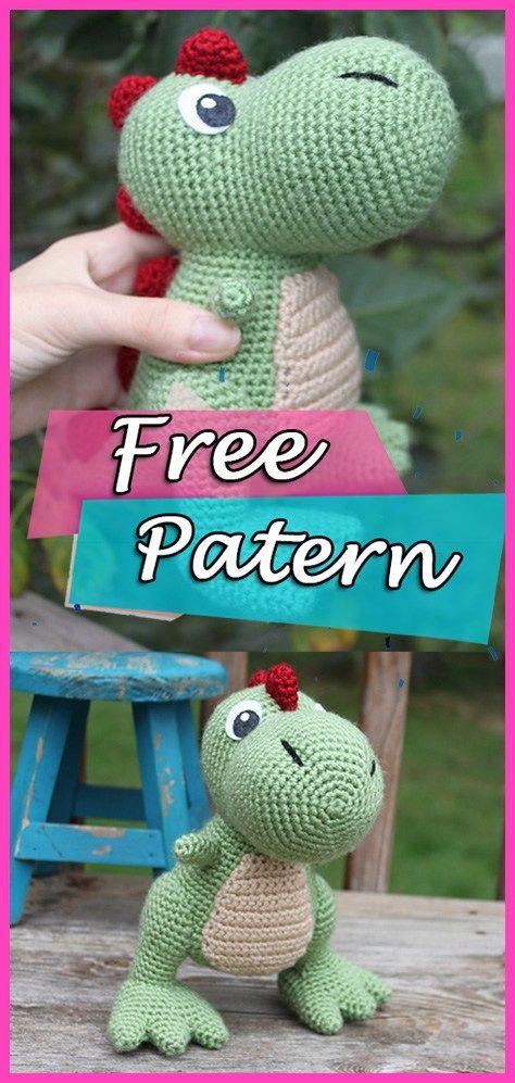 Best 11 Amigurumi t rex dinazor free pattern – Artofit – Page ... | 997x474