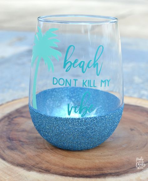 How To Make Dishwasher Safe Glitter Wine Glasses | Glitter