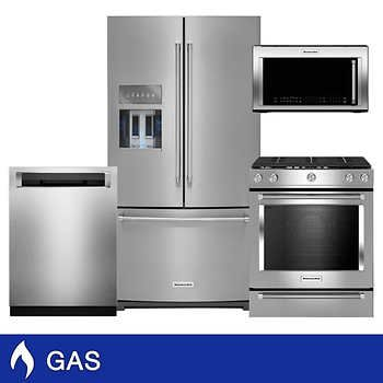 Gas Kitchen Appliance Packages Costco French Door Refrigerator Kitchen Aid Kitchen Aid Appliances