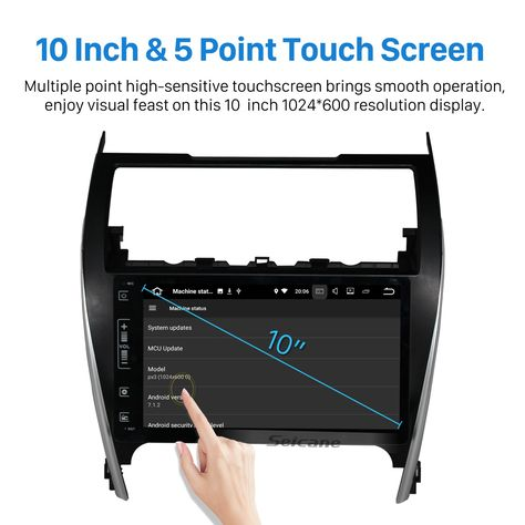Seicane 10 Inch Hd Touch Screen Android 7 1 Car Stereo Radio For 2012 2017 Toyota Camry European American Gps Navigation Blueto Camry Gps Navigation Car Stereo