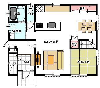 1階の間取り集 l字型リビング 3 間取り 平面図 住宅 間取り