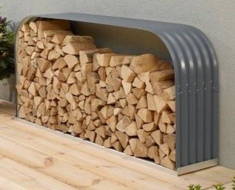 Eph Holzunterstand Lager Flach Quer Alu Unterbau Granit Zincalume Holzlager Garten Terrasse Gartenbaute Kaminholzregal Holzunterstand Kaminholzunterstand