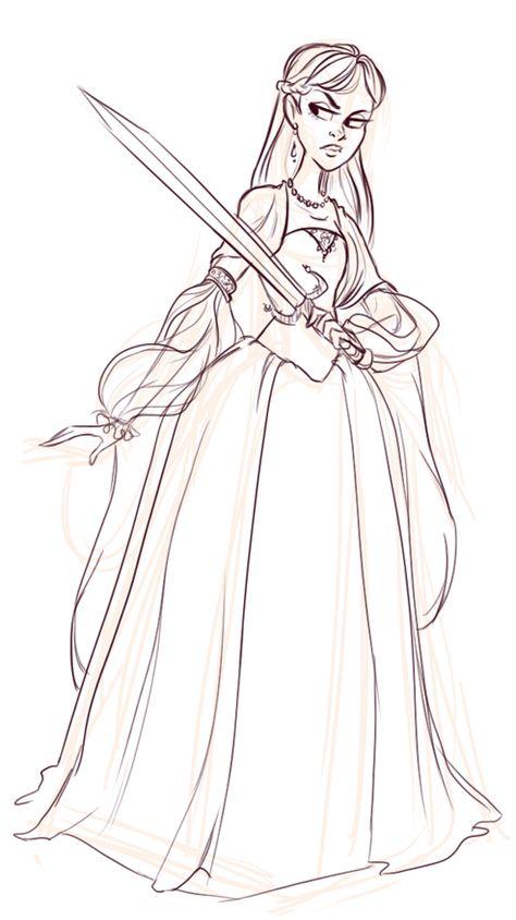 quick dress sketch