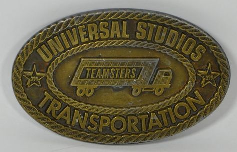 9798f166f5fcf Vintage Universal Studios Transportation Teamsters 399 California Belt  Buckle  Unknown  Classic
