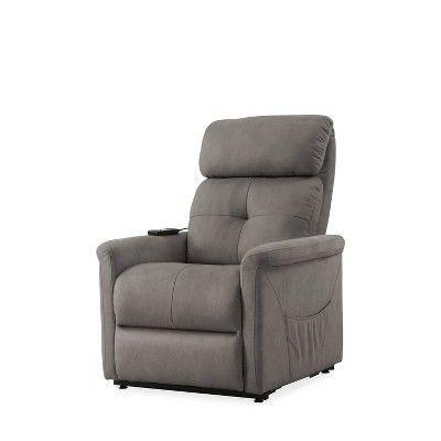 Prolounger Rocker Recliner Chair Gray Handy Living