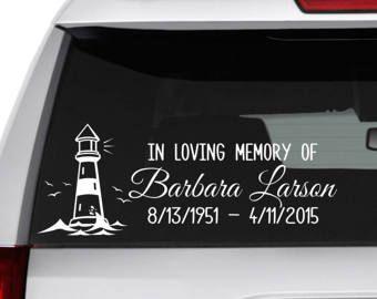 In Loving Memory Car Decals >> In Memory Of Grandma Memory Car Decal In Loving Memory