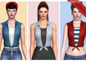 Sunshine Top at Juliana Sims - Sims 3 Finds