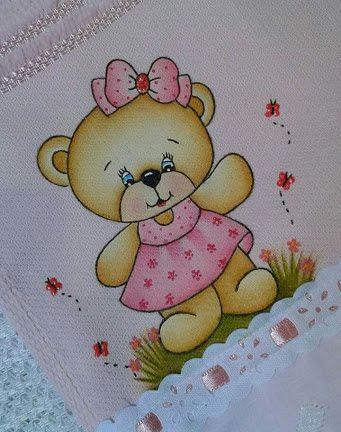 Resultado De Imagem Para Pintura Em Tecido Toalha Infantil Ursa