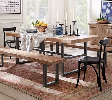 Griffin Reclaimed Wood Dining Table Reclaimed Dusty Safari