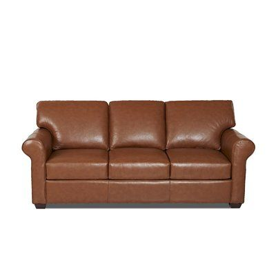 Wayfair Custom Upholstery Rachel Genuine Leather 91 Rolled Arm Sofa Wayfair In 2020 Leather Sleeper Sofa Leather Sofa Wayfair Custom Upholstery