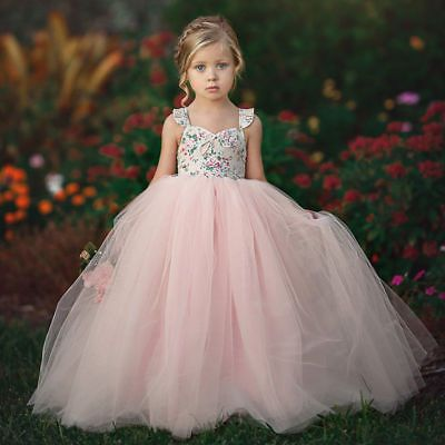Toddler Girls Princess Dress Kids Party Wedding Pageant Formal Gown Tutu Dresses