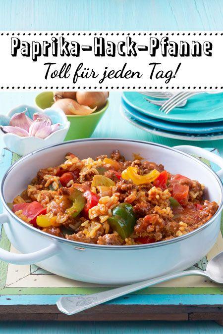 Paprika-Hack-Pfanne mit Reis | Rezept | Schnelle Küche in ...