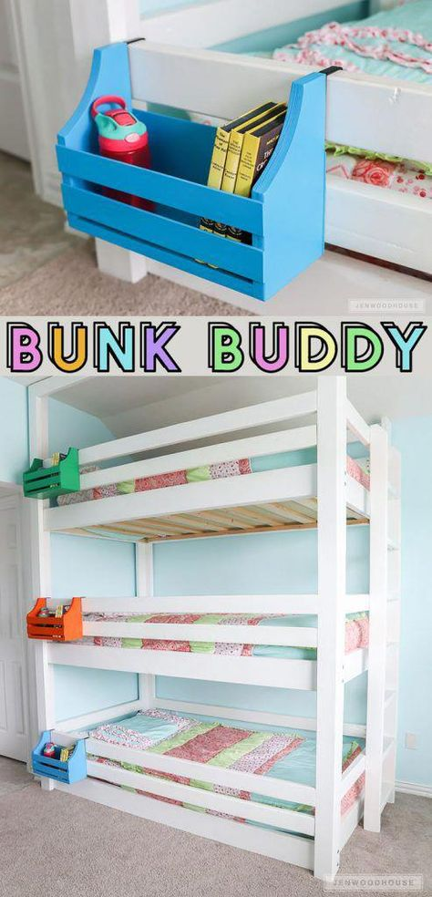 Woodworking Ideas For Home How to make a DIY bunk buddy bunk bed shelf out of scrap wood!Woodworking Ideas For Home How to make a DIY bunk buddy bunk bed shelf out of scrap wood!