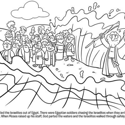 Moses Crosses The Red Sea Coloring Page Crossing The Red Sea Moses Red Sea Parting The Red Sea