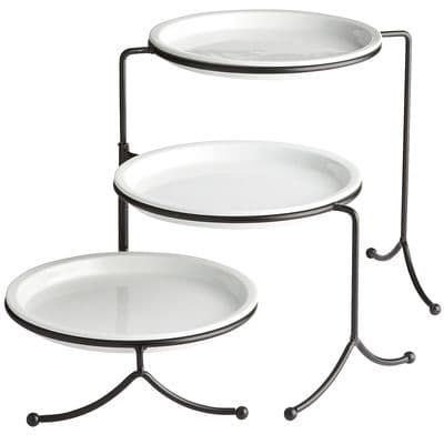 3 Tiered Plate With Stand Tiered Serving Stand Plates Serving Stand
