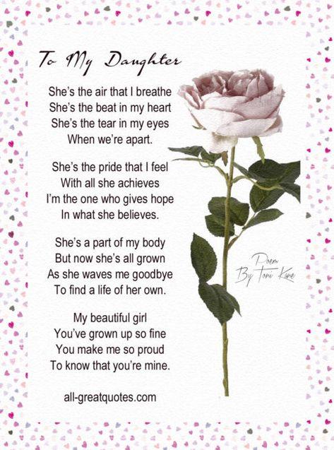 Original Unique Daughter Poems By Toni Kane | all-greatquotes.com #Daughter #Poems