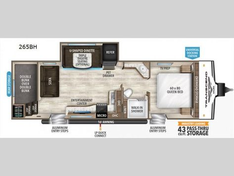 New 2020 Grand Design Transcend Xplor 265bh Travel Trailer At Rv