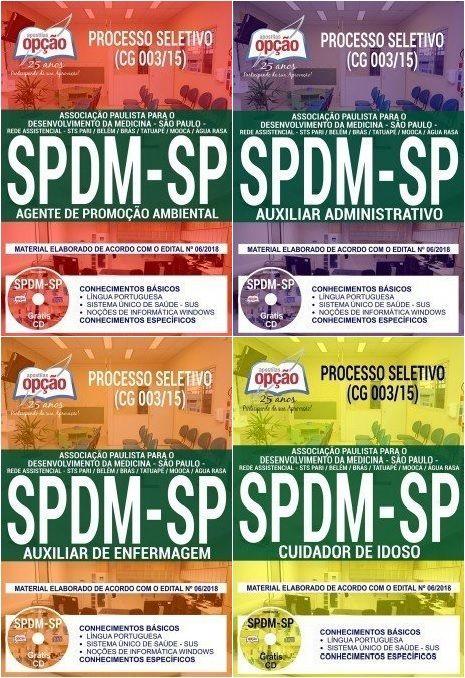Apostilas Preparatorias Processo Seletivo Da Spdm Associacao