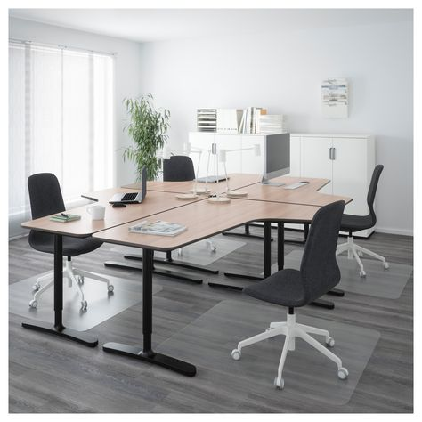 Mesa Despacho Ikea Blanca.Ikea Bekant Desk Combination Gray Black Escritorio