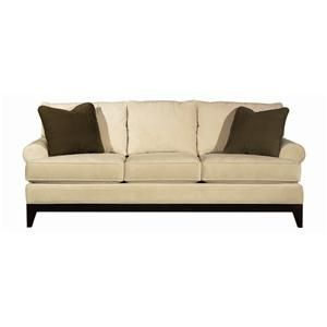 Transitional Sofa Exposed Wood