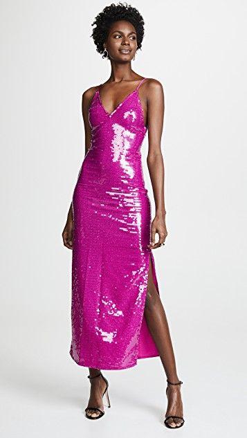 Fleur Du Mal Long Sequin Slip Dress Dresses Trendy Cocktail Dresses Slip Dress