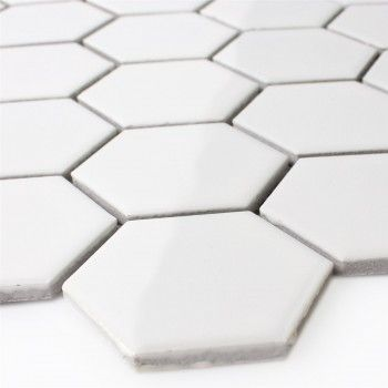 Mosaik Fliesen Mosaikfliesen Keramikmosaik Keramik Kachel wei/ß gl/änzend