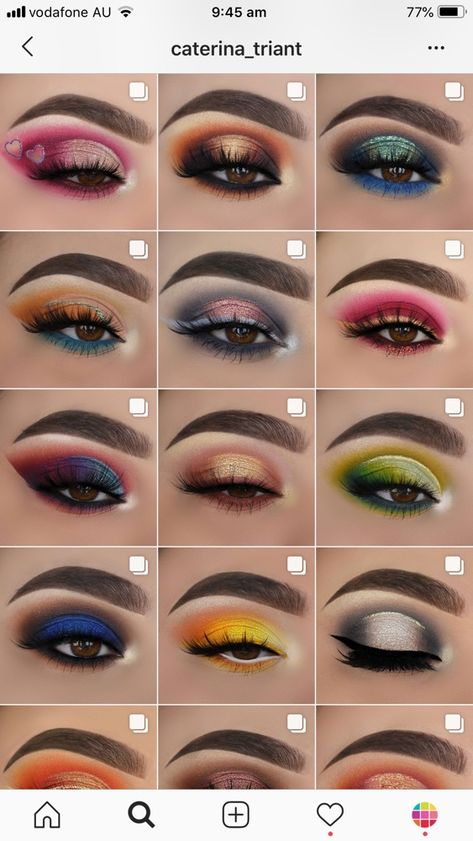 Here are 19 of our feed ideas, themes and feed layouts by makeup artists themselves. Bold Eye Makeup, Creative Eye Makeup, Makeup Eye Looks, Eye Makeup Steps, Eye Makeup Art, Colorful Eye Makeup, Beautiful Eye Makeup, Smokey Eye Makeup, Skin Makeup