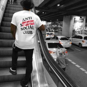 Anti Social Social Club Supreme T Shirt Logo Print Supreme T Shirt T Shirt Logo Printing Anti Social Social Club