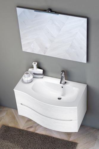 Bagno Composizione 4 Pezzi Cm 91 Larice Bianco Ag02dx Larbia Con