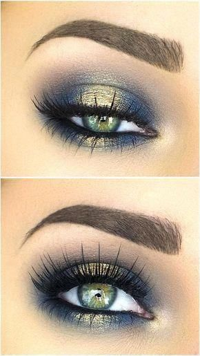 Blues of the Sea eye makeup look. Makeup for brow eyes, blue eyes, green eyes and all skin and hair colours. Highlights your eyes. Eyeshadow beauty tutorial for smokey eyes, nude lip with wing eyeliner. 21 Stunning Makeup Looks for Green Eyes. Eye Makeup Tips, Makeup Hacks, Makeup Inspo, Makeup Inspiration, Makeup Ideas, Makeup Products, Makeup Trends, Makeup Goals, Hair Makeup