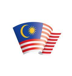Malaysia Flag On A White Malaysia Flag Travel Icon Flag
