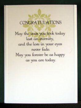 50 Trendy Wedding Card Sayings Ideas Wedding Card Messages Wedding Card Quotes Wedding Congratulations Card