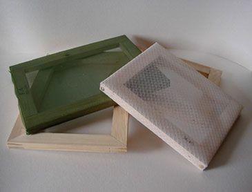 Fabrication D Un Tamis Pour Papier Maison Fait Maison Papier