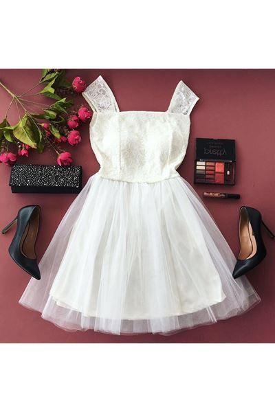 Detaylari Goster Gupurlu Askili Beyaz Elbise 59432 Elbise The Dress Elbise Modelleri