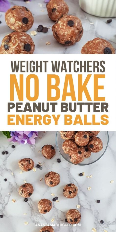 Quick Weight Watchers Peanut Butter Energy Balls - No Bake Easy Snack