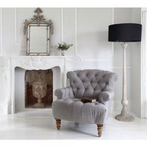 Buttoned Charcoal Deep Armchair by The French Bedroom company. This chair will look great not only in your French bedroom, but will add a touch of class to any room in your home.