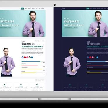 Business Colorful Corporate Creative Image Background Light Skin Multiple Layouts One Page Parallax Portfolio Te Website Template Templates Personal Portfolio