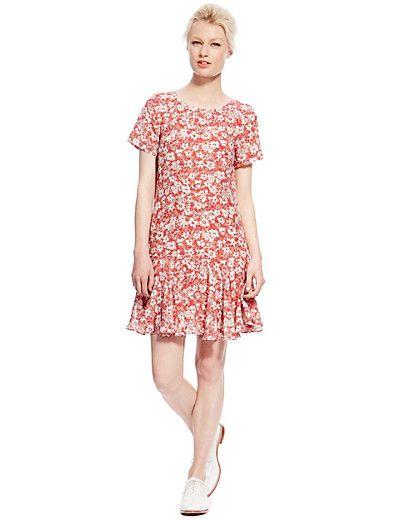Pure silk floral dress #BestofBritish