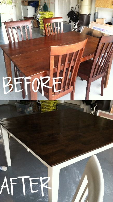 Marvelous Tutorial On Refinishing A Wood Veneer Table Top, Using Paint And Wood Stain  | Diyu0027s | Pinterest | Wood Veneer, Wood Stain And Tutorials
