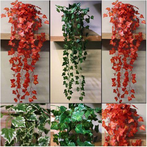 Hanging Artificial Succulents Flower Garden Flowers Plants Vines Wedding Decor n