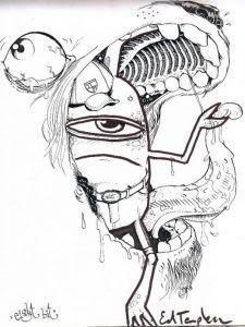 Sketsa Gambar Animasi Keren Hitam Putih Kata Kata