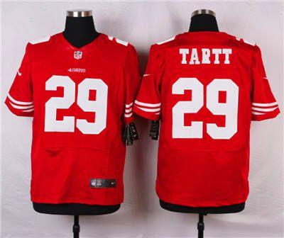 Men's San Francisco 49ers #29 Jaquiski Tartt Scarlet Red Team Color NFL Nike Elite Jersey