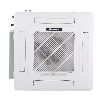 Gree 17100 Btu Ductless Ceiling Cassette Mini Split Air Conditioner With Heat Inverter And Remote 230volt Uma18hp230v1acs The Home Depot Ductless Gree Cassette