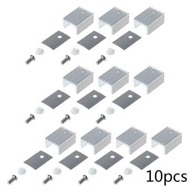 10set Pc Cooling Radiator Aluminum Sheet Heatsink Transistor Cooler Silicone Pad In 2020 Heatsink Transistors Computer Cpu