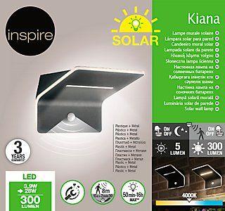 Aplique Solar Led Inspire Gris Leroy Merlin In 2020