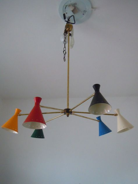 Lampadario Stilnovo Anni 50.Pin On Space Age Atomic Age